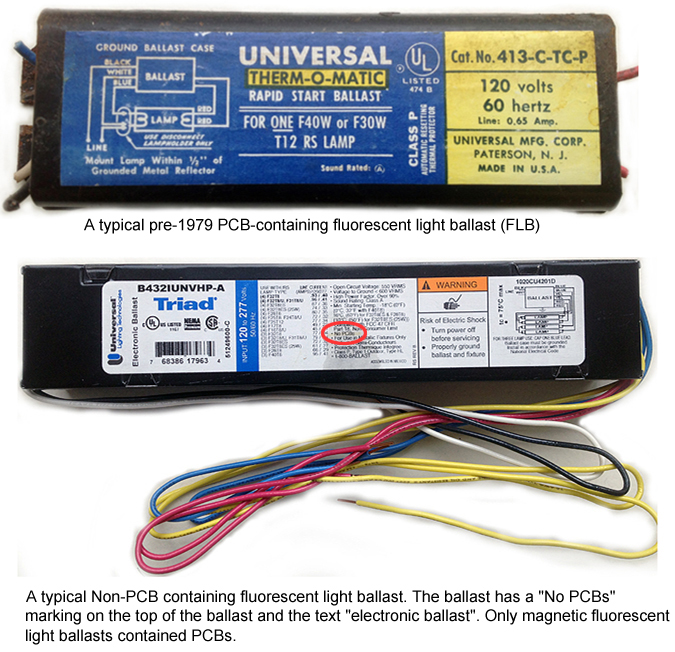 Fluorescent Light No Ballast: Polychlorinated Biphenyl (PCB)-Containing Fluorescent