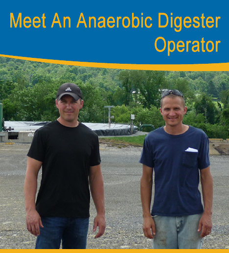 Photo of the anaerobic digester operator, Dennis Brubaker