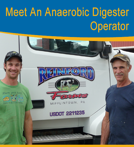 Photo of the anaerobic digester operators, Steve and Brett Reinford
