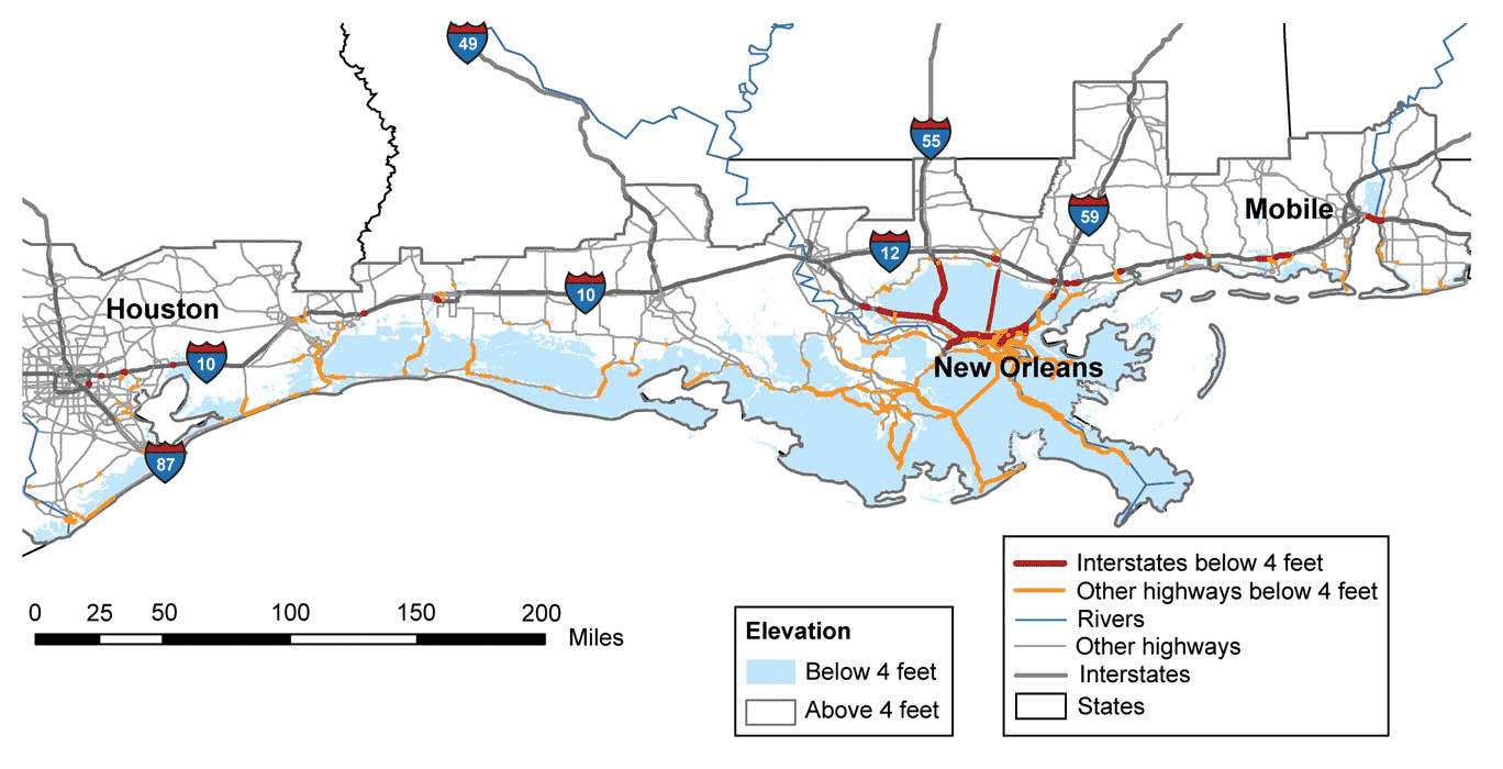 Climate Impacts On Transportation Climate Change Impacts US EPA - 100 year sea rise us map