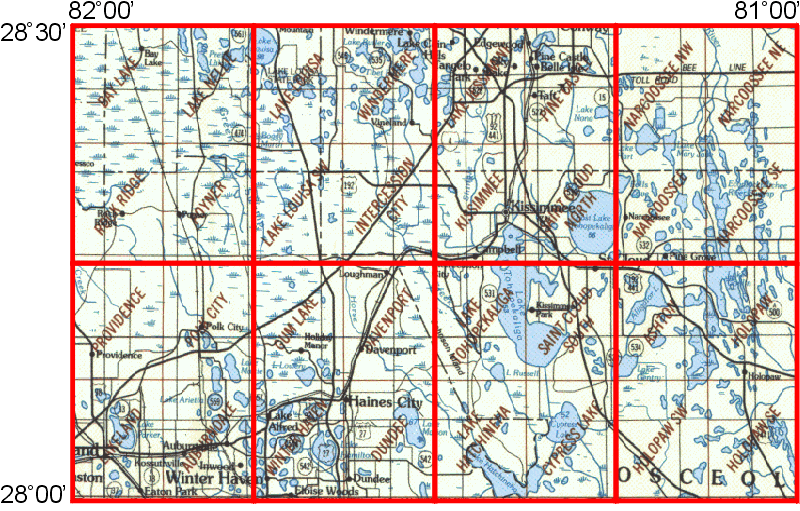 Map Of Kissimmee Florida.Whaem2000 Bbm Files Kissimmee Florida Epa Center For Exposure