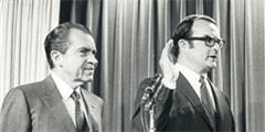photo of President Nixon and William Ruckelshaus