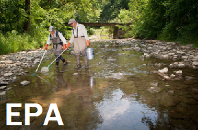 Photo for 'EPA': Two men in waders monitoring a stream