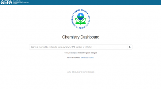 Chemistry dashboard screenshot