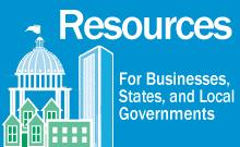 Image link to resources for businesses, states, and local government page