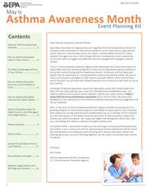 Asthma Awareness Month Event Planning Kit