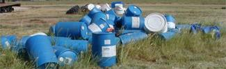 Picture of chemical barrels