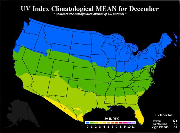 Us Uv Index Map Sun Safety Monthly Average UV Index | Sun Safety | US EPA