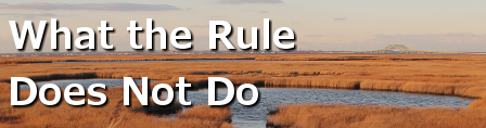 What the rule does not do