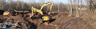 bulldozer at Partridge Creek project