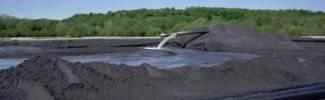 this is a picture of coal ash staging