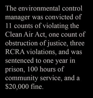2014 Major Criminal Cases | Enforcement | US EPA