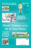 Poster about Flood Cleanup and the Air In Your Home