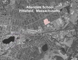 Aerial map of the Allendale School