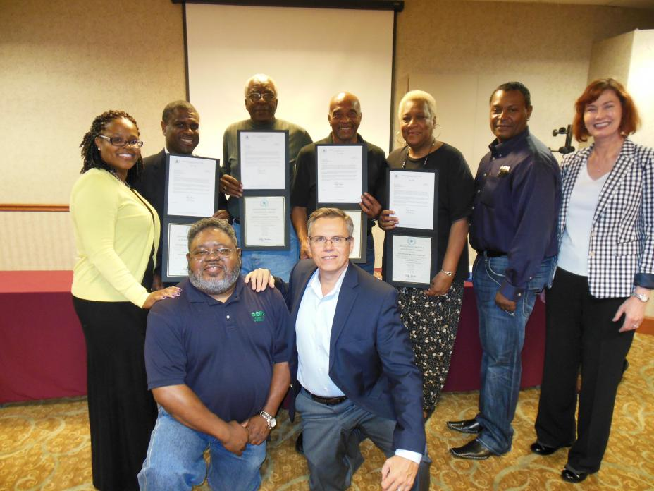The Memphis Town Community Advisory Group (CAG) was recognized by the U.S. Environmental Protection Agency (EPA) as the winner of the 2014 Citizen Excellence in Community Involvement Award