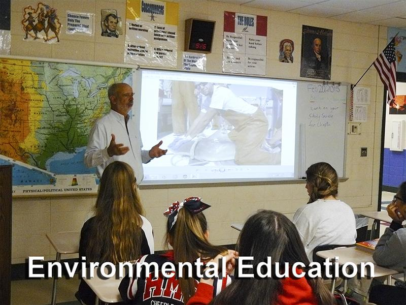 Instructor teaching environmental education