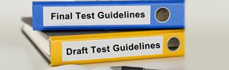 View the test guidelines
