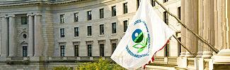 image of EPA building and its flag