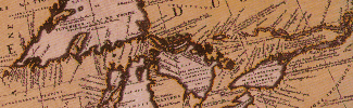Image from an antique map of the Great Lakes
