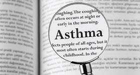 Learn about Asthma Book Highlighting the word asthma