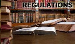 View information about radiation regulations and laws.