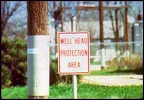 Signs can remind the community they are in wellhead protection areas.