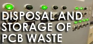 disposal and storage of pcb waste
