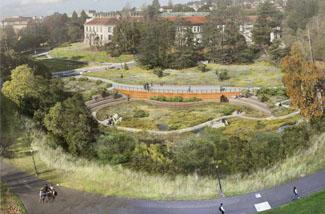 concept design of green infrastructure on creek site