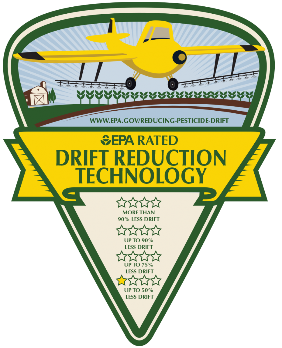 One star rating logo for aerial aplication
