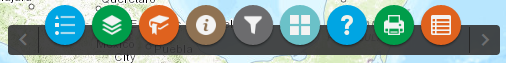 Screenshot of the map widget icons