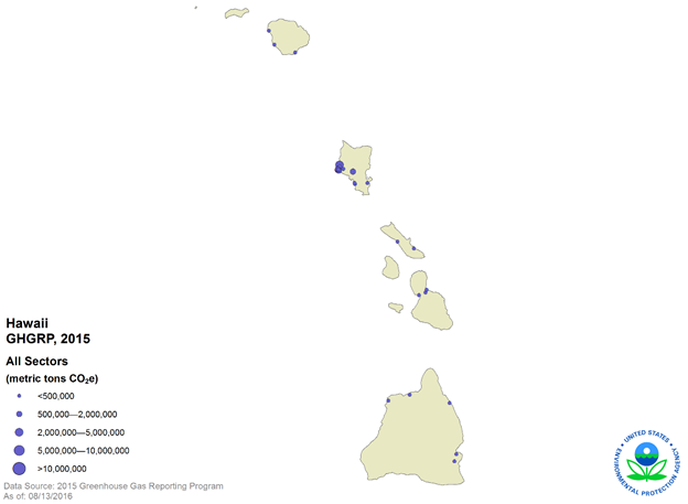 GHGRP 2015 Reported Data map 3