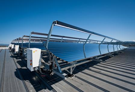 photo of solar collectors
