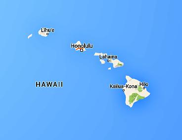 Map of the State of Hawaii