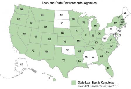 Map of state agencies using Lean