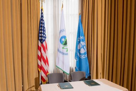 flag pictures: EPA, UNEP and the United States of America