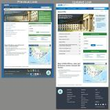 screen shots comparing EPA web pages with the previous and new design