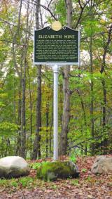 Elizabeth Mine Historic Marker