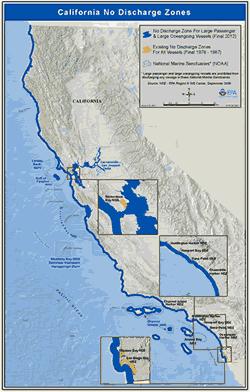 Bodies Of Water In California Map.No Discharge Zones Region 9 Water Programs Us Epa