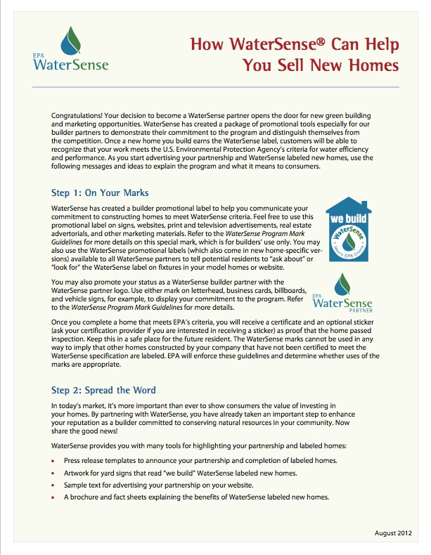 The watersense blueprint spring 2015 watersense us epa builder how to malvernweather Image collections