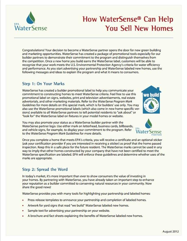 The watersense blueprint spring 2015 watersense us epa builder how to malvernweather Images