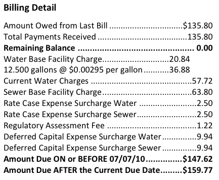 Understanding Your Water Bill Watersense Us Epa